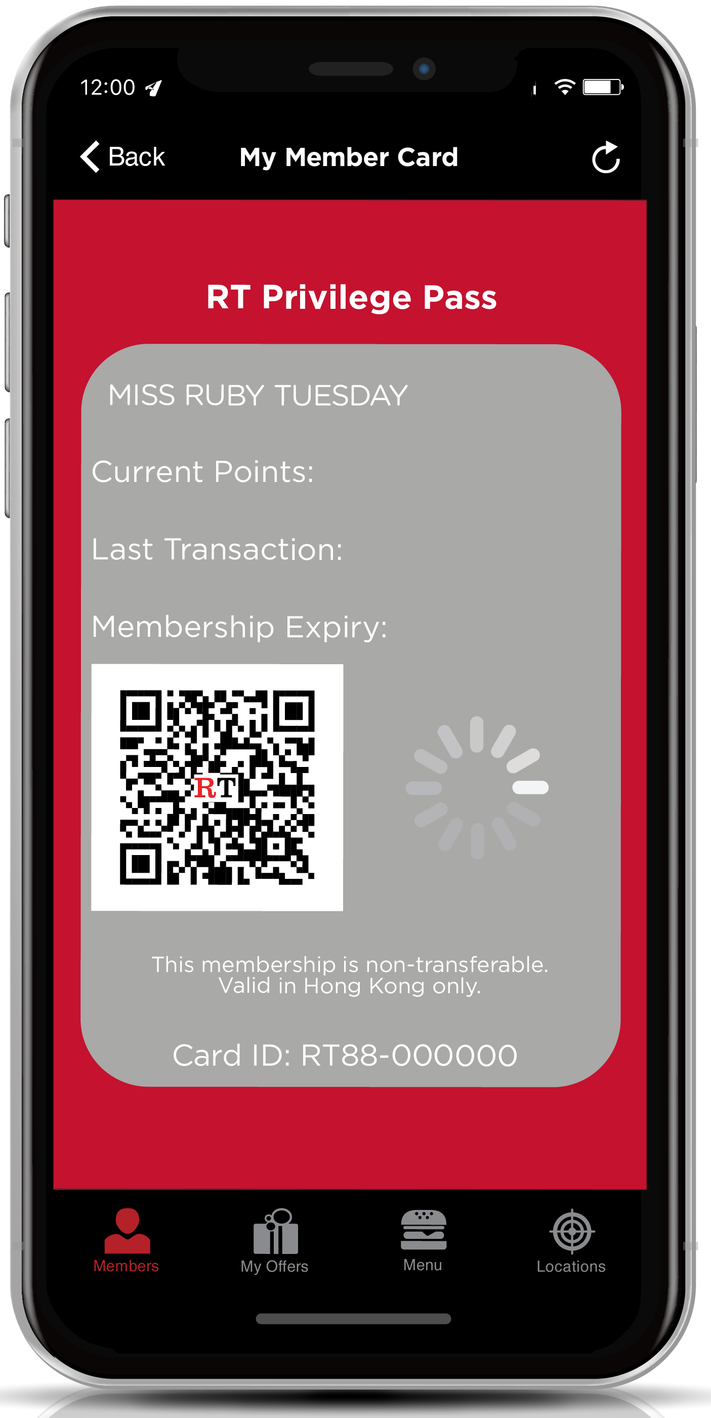 Ruby Tuesday Privilege Pass