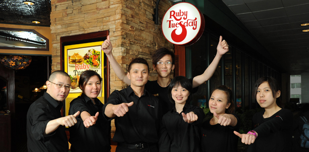 Ruby Tuesday Hong Kong 職位申請