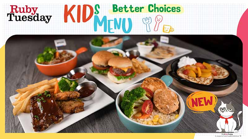 Ruby's Kids menu