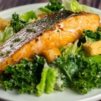 Ruby's Caesar Salad - Grilled Salmon<br>香煎三文魚扒